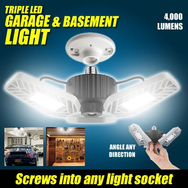 Triple LED Garage Light